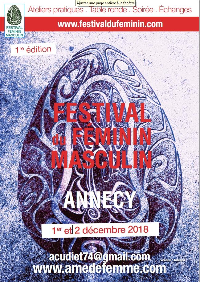 01-02 Décembre 2018 Festival féminin et masculin sacré