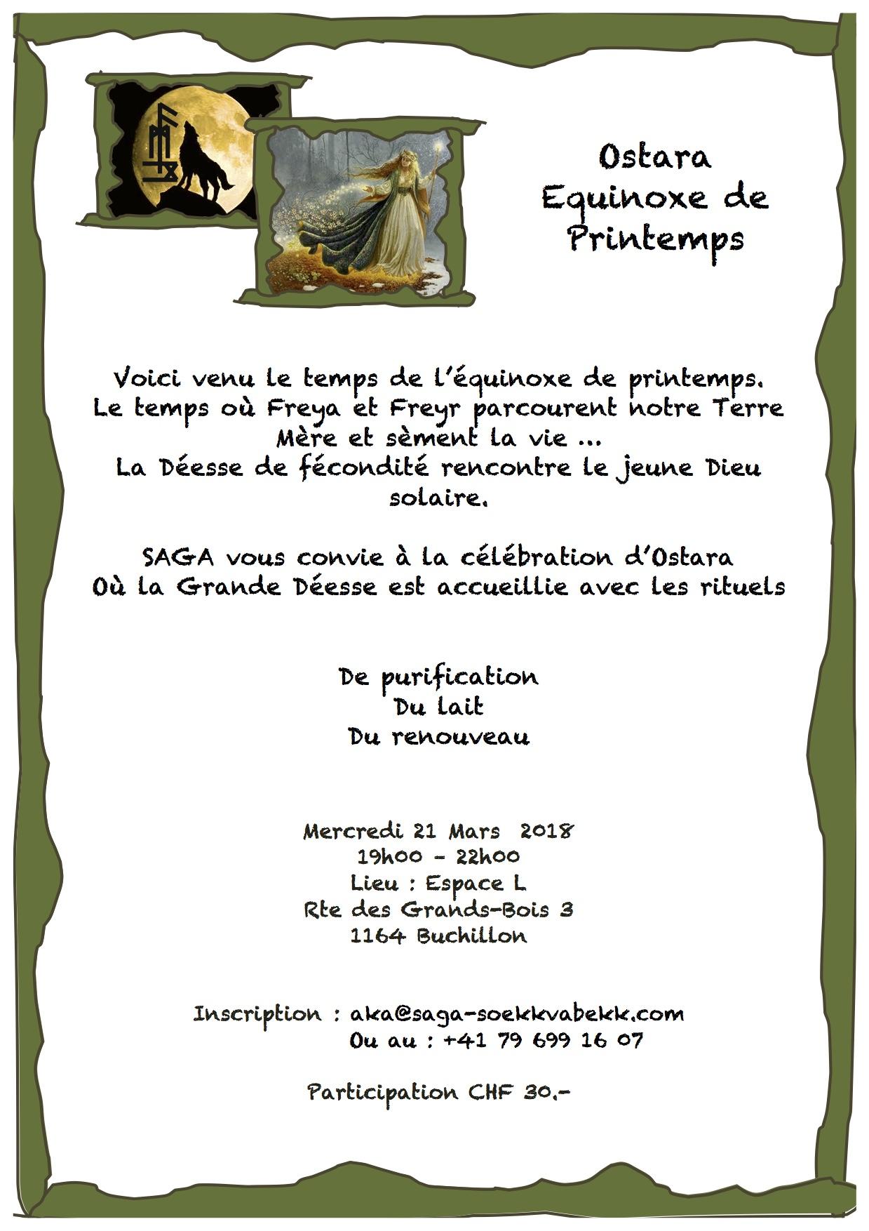 21.03.2018, Buchillon, Espace L, cérémonie d'Equinoxe de printemps