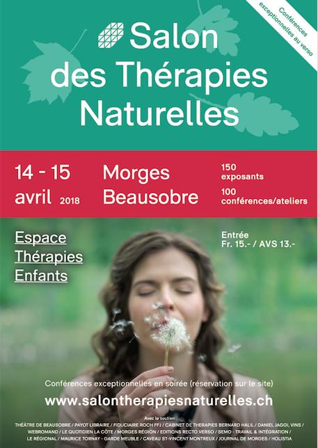 Morges Salon des Thérapies Naturelles 14-15 avril 2018